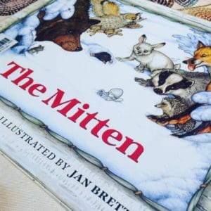 The Mitten by Jan Brett picture book front cover