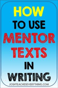 Looking for ways to save time by using mentor texts in writing?  These ideas will give you back time by helping you be more efficient.  Ideas for all parts of writing and a free guide and planning templates included!