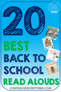 Check out these 20 elementary read alouds for back to school! These fun activities are your survival kit perfect for Kindergarten, 1st, 2nd, 3rd, 4th, and 5th grade. TIps and ideas to help you hack classroom management and build community while covering standards!
