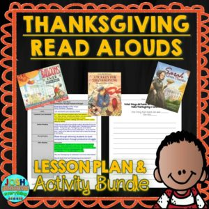Check out these fiction and non-fiction picture books for Thanksgiving. These books and lesson plans are full of activities and ideas to teach these mentor texts.  Books just for fun and others to inform for Kinderarten, first, second, third, fourth or fifth grade.  These books for kids Kindergarten through upper elementary are perfect for your celebration!  3 great books bundled as a Thanksgiving picture book read aloud unit!