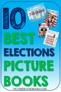 Looking for the best children's books about elections and voting? These fun books for elementary students are engaging for primary and upper elementary kids.  Fiction and nonfiction books with lesson plans and activities linked.  Books about elections, voting and presidents for your kindergarten, first, second, third, fourth or fifth grade students.